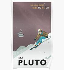 Pluto Travel Poster Poster