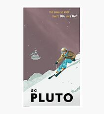 Pluto Travel Poster Fotodruck