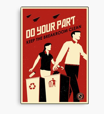 Do Your Part and Keep the Breakroom Clean Canvas Print