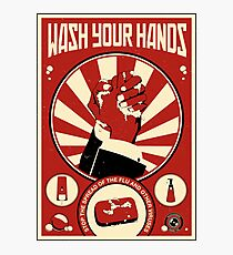 Wash Your Hands Photographic Print