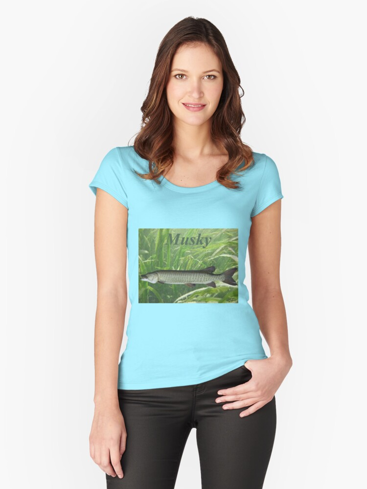 Musky Women's Fitted Scoop T-Shirt Front