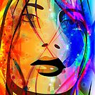 Colorful Abstract Girl Portrait by artonwear