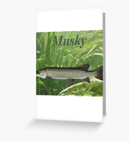 Musky Greeting Card