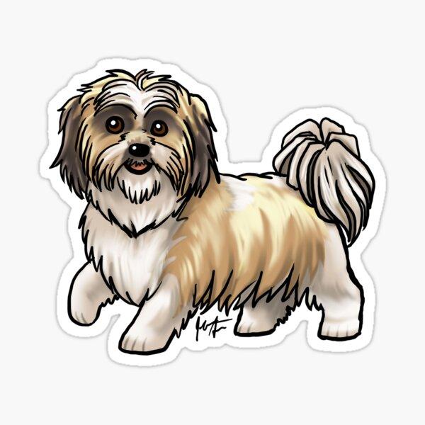 Shih Tzu - Gold Sticker