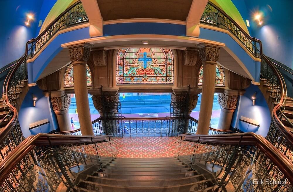 The Grand Staircase, Queen Victoria Building, Sydney by Erik Schlogl