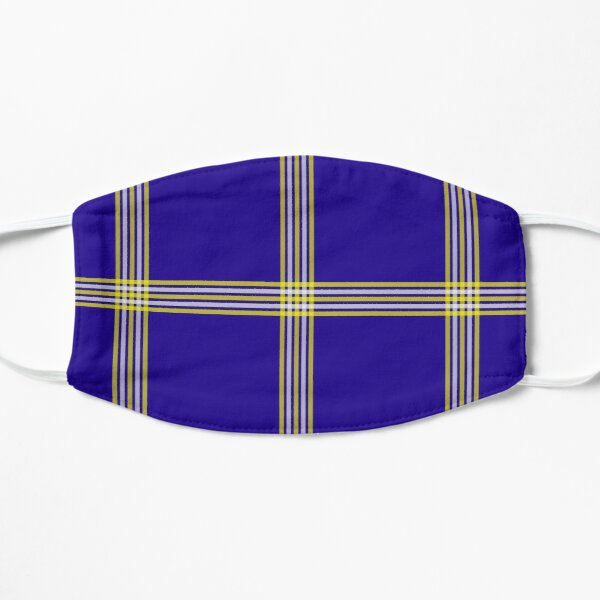 Navy Blue Yellow Stripes Mask