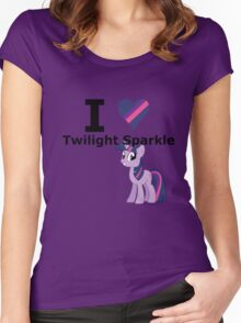 I Heart Twilight Sparkle Women's Fitted Scoop T-Shirt