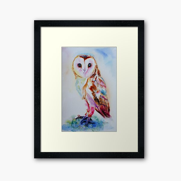 Barn Owl Framed Art Print