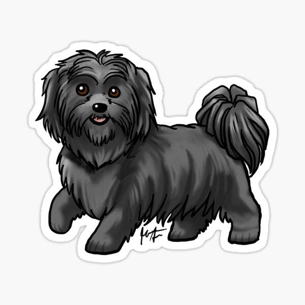 Shih Tzu - Black Sticker