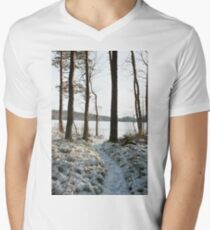 Store Mosse in the winter Men's V-Neck T-Shirt