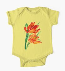 Bright Red Flamboyant Parrot Tulips Kids Clothes