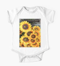 Sunflowers in Cortona, Tuscany, Italy One Piece - Short Sleeve
