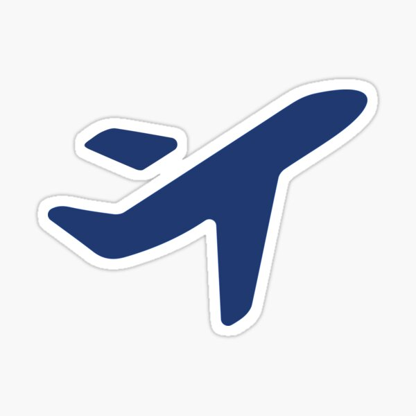 Jess.Travel Plane solo logo Sticker