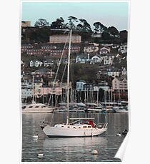 yacht on the Dart Poster