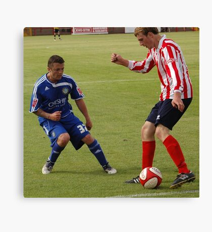 Witton Albion v Macclesfield Town Canvas Print