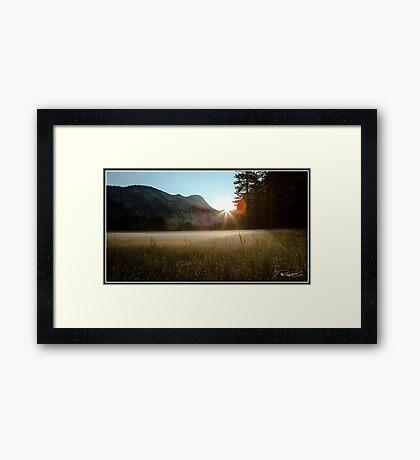 Yosemite Valley Sunrise Framed Print