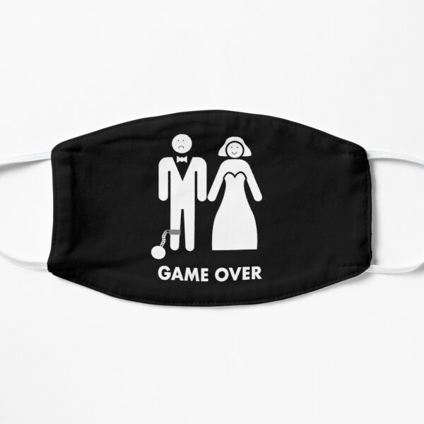 Game over funny bride and groom wedding tshirt gift Mask