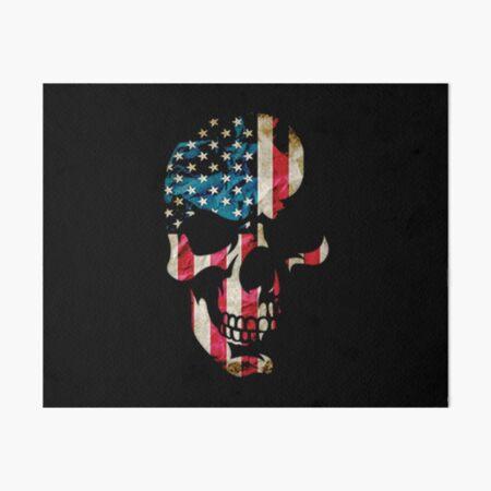Sugar Skull  American Flag Art Board Print