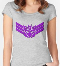 Tranformers Decepticon Logo Women's Fitted Scoop T-Shirt