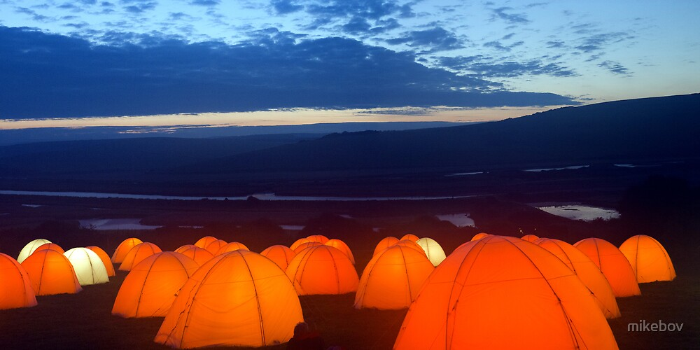 Peace Camp - Cuckmere Haven - Dawn by mikebov