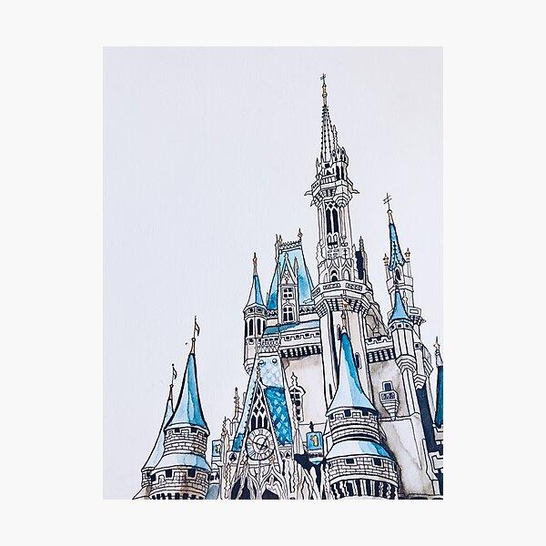 Cinderella's Castle Watercolor Photographic Print