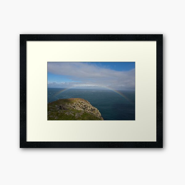 At the end of the rainbow Framed Art Print
