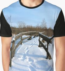 The Herrestadsjön bridge III Graphic T-Shirt