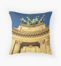 Paris detail of Grand Palais Throw Pillow