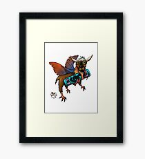 chicken goat Framed Print