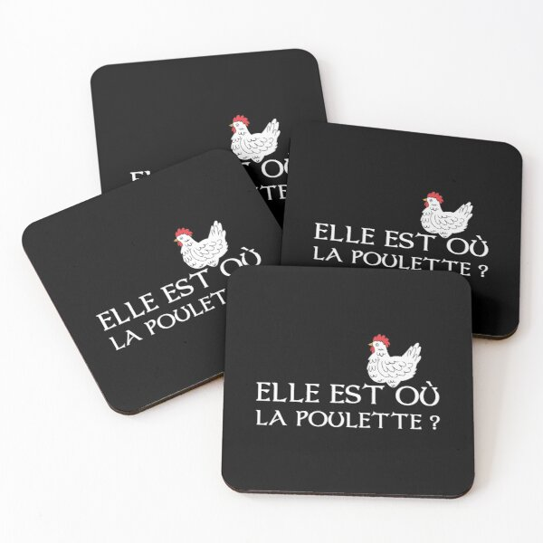 Kaamelott - Where's the chick? Coasters (Set of 4)