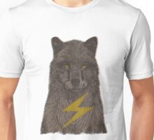 Warning: Electric Wolf Unisex T-Shirt