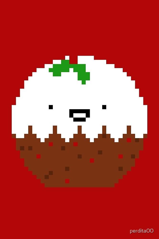 Cute Christmas Pixel Pud by perdita00