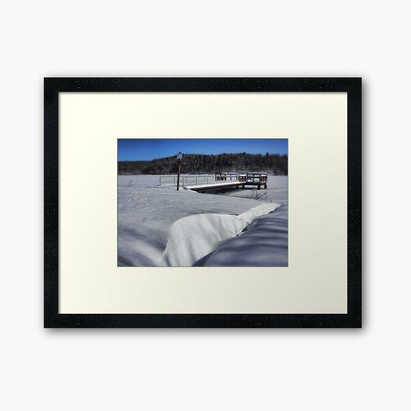 The Snow Drift Framed Art Print