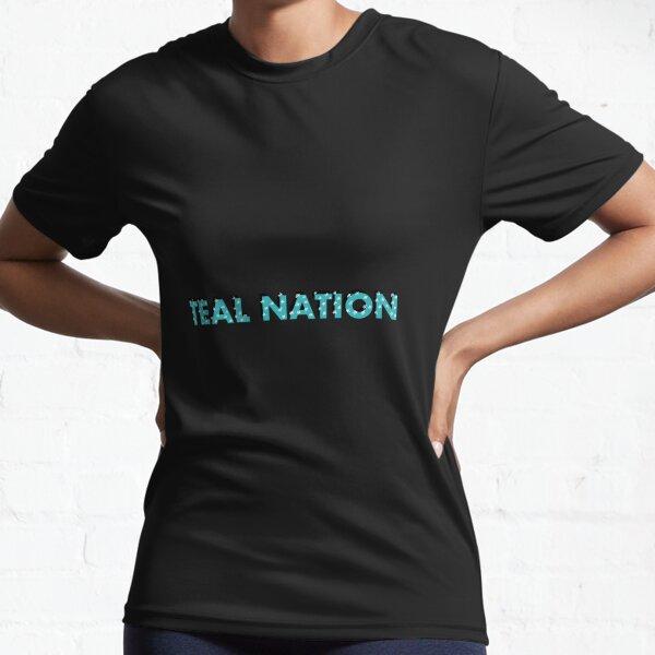 Teal Nation Sticker Active T-Shirt