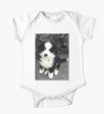 Cute Bernese Mountain Dog Puppy One Piece - Short Sleeve