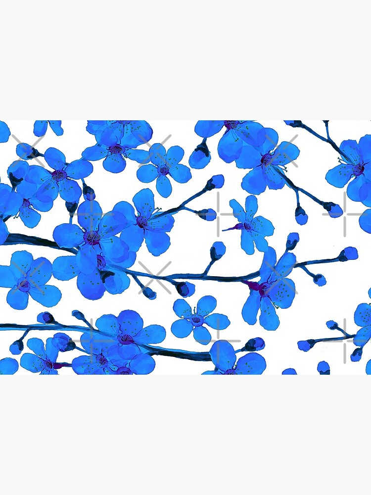 Cherry Blossom blue, Chinoiserie by MagentaRose