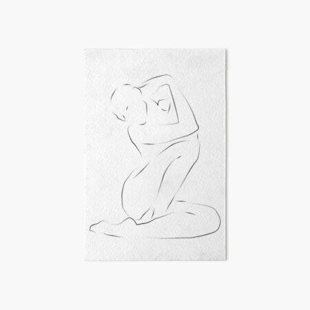 delicate // line art minimalism Art Board Print