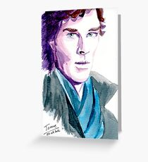 Benedict Cumberbatch, Sherlock Greeting Card