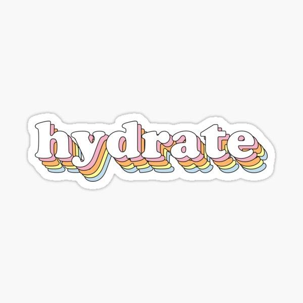 Groovy Hydrate Sticker