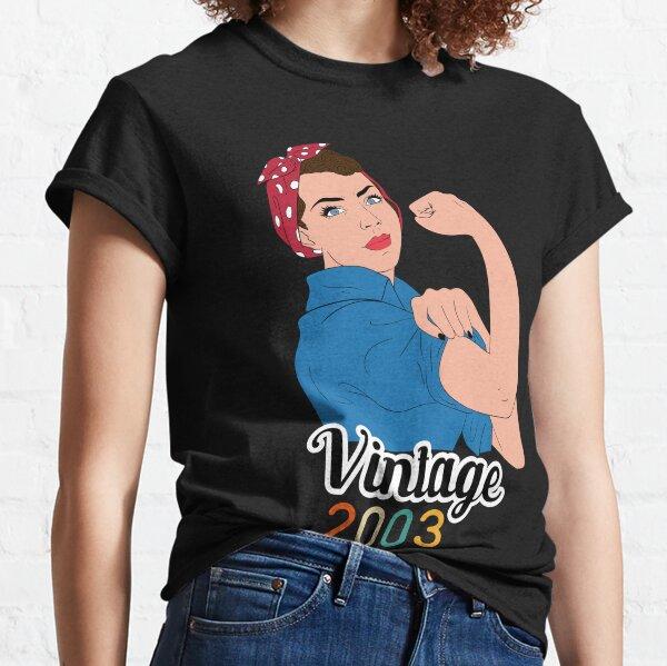 Nacido en 2003 17º Cumpleaños Regalo vintage 2003 Camiseta clásica