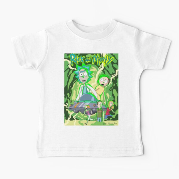 Rick And Morty Cinematic Smith Family Baby T-Shirt