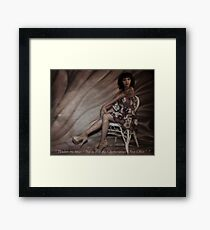 """ Pardon Me Boys "" Framed Print"