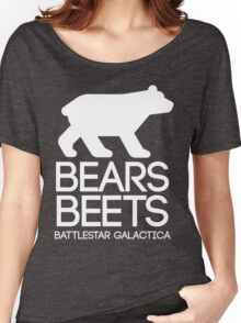 Bears. Beets. Battlestar Galactica. Women's Relaxed Fit T-Shirt