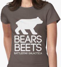 Bears. Beets. Battlestar Galactica. Women's Fitted T-Shirt