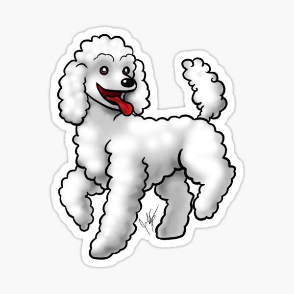 Poodle - White Sticker