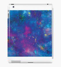 Blue splattery space iPad Case/Skin