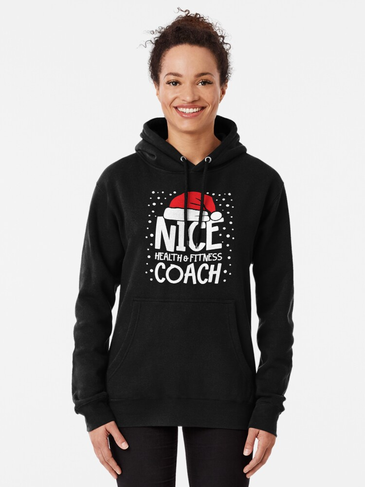 Alternate view of Nice Fitness Coach - Personal Trainer Christmas Gift Pullover Hoodie