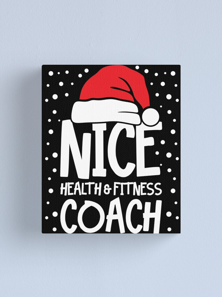 Alternate view of Nice Fitness Coach - Personal Trainer Christmas Gift Canvas Print