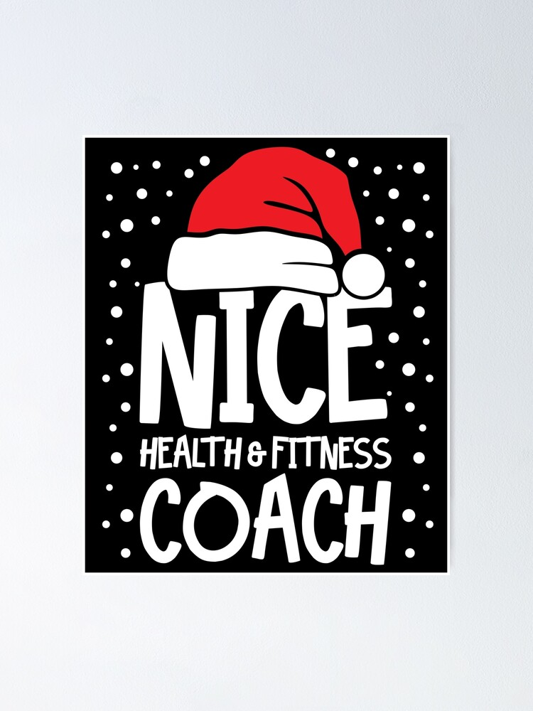 Alternate view of Nice Fitness Coach - Personal Trainer Christmas Gift Poster