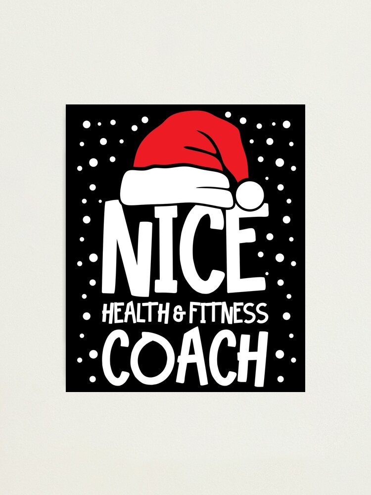 Alternate view of Nice Fitness Coach - Personal Trainer Christmas Gift Photographic Print